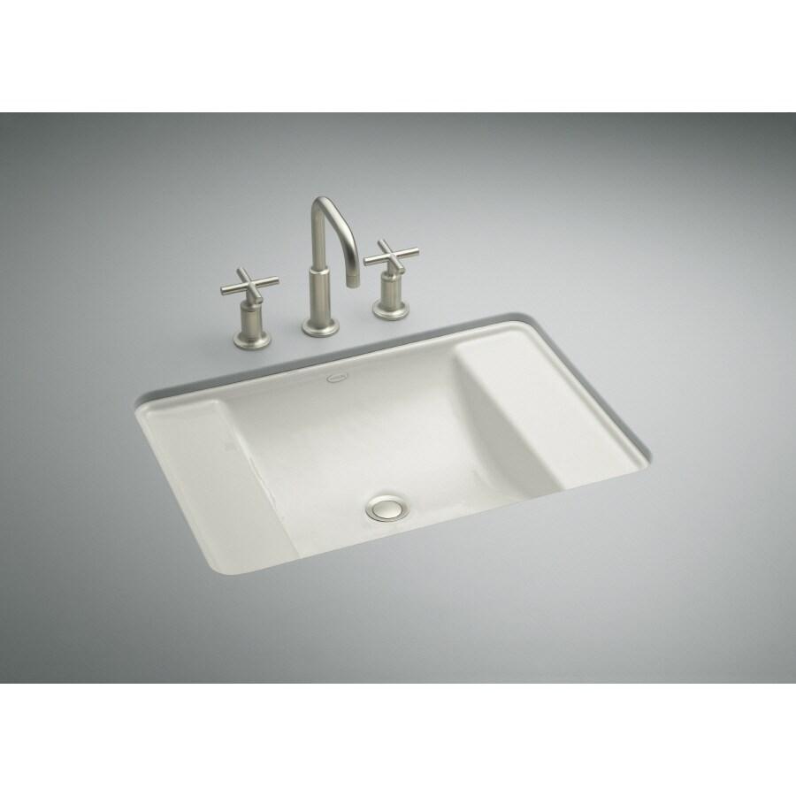 KOHLER Ledges Ice Grey Cast Iron Bath Sink