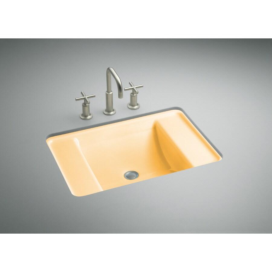 KOHLER Ledges Vapour Orange Cast Iron Bath Sink