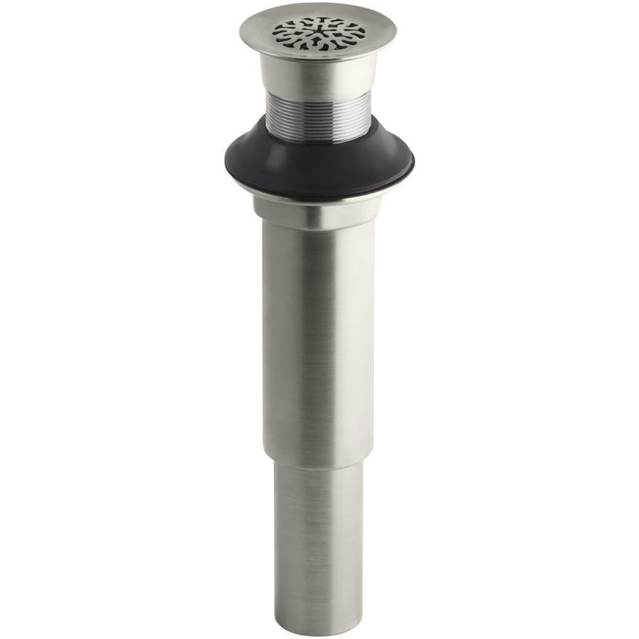 KOHLER 8.9375-in Silver Brass Bath Drain