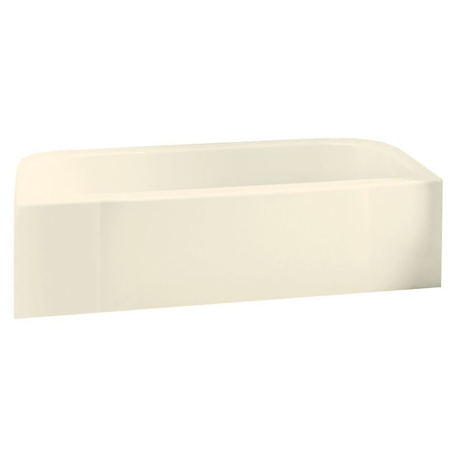 Sterling Accord 60.25-in Biscuit Vikrell Alcove Bathtub with Right-Hand Drain