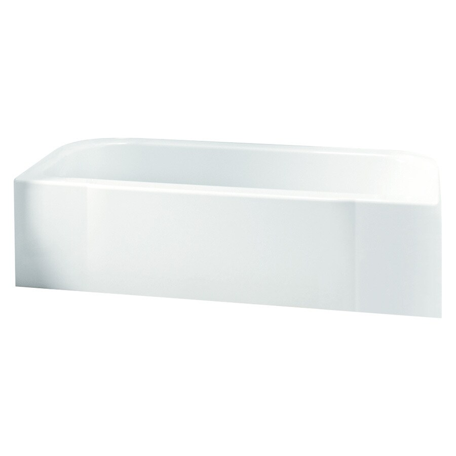 Sterling Accord White Fiberglass and Plastic Composite Rectangular Skirted Bathtub with Left-Hand Drain (Common: 30-in x 60-in; Actual: 17.25-in x 30.5-in x 60.25-in)