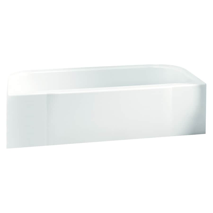 Sterling Accord 60-in White Vikrell Alcove Bathtub with Right-Hand Drain