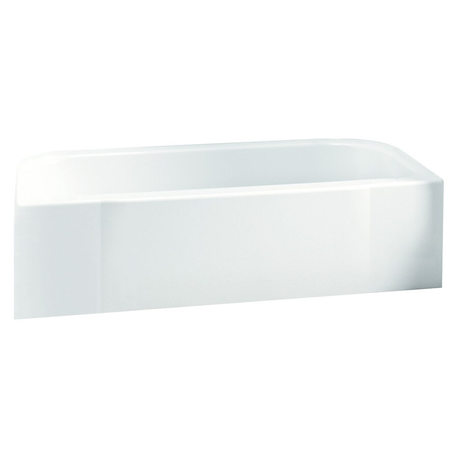 Sterling Accord White Fiberglass and Plastic Composite Rectangular Skirted Bathtub with Right-Hand Drain (Common: 30-in x 60-in; Actual: 17.25-in x 30.5-in x 60.25-in)