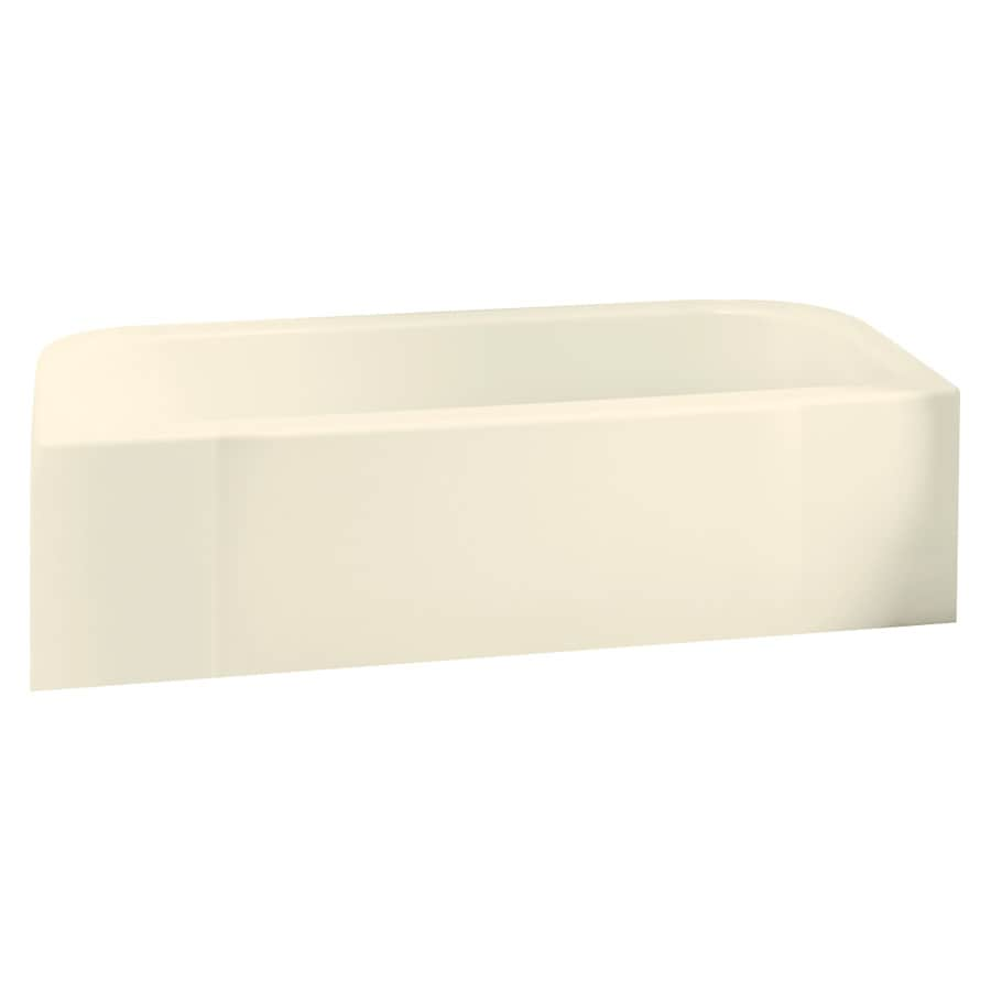 Sterling Accord Biscuit Fiberglass and Plastic Composite Rectangular Skirted Bathtub with Right-Hand Drain (Common: 30-in x 60-in; Actual: 17.25-in x 30.5-in x 60.25-in)
