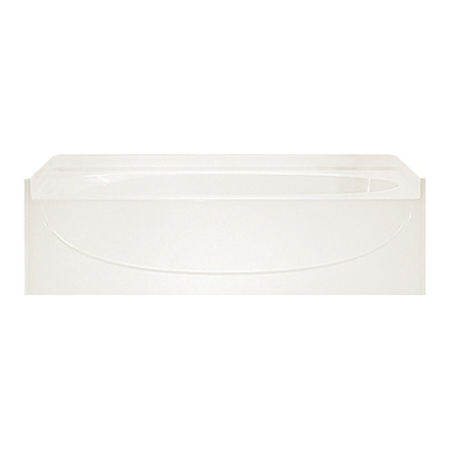 Sterling Acclaim Biscuit Vikrell Oval In Rectangle Skirted Bathtub with Right-Hand Drain (Common: 30-in x 60-in; Actual: 15-in x 30.5-in x 60.25-in)