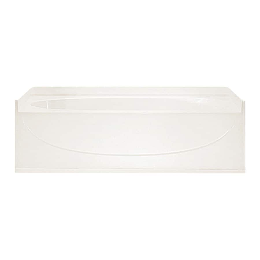 Sterling Acclaim Biscuit Vikrell Oval In Rectangle Skirted Bathtub with Left-Hand Drain (Common: 30-in x 60-in; Actual: 15-in x 30.5-in x 60.25-in)