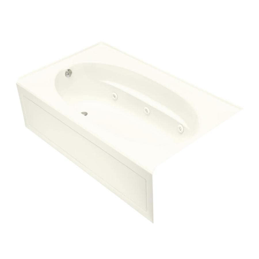 KOHLER Windward 60-in Biscuit Acrylic Skirted Air Bath with Left-Hand Drain