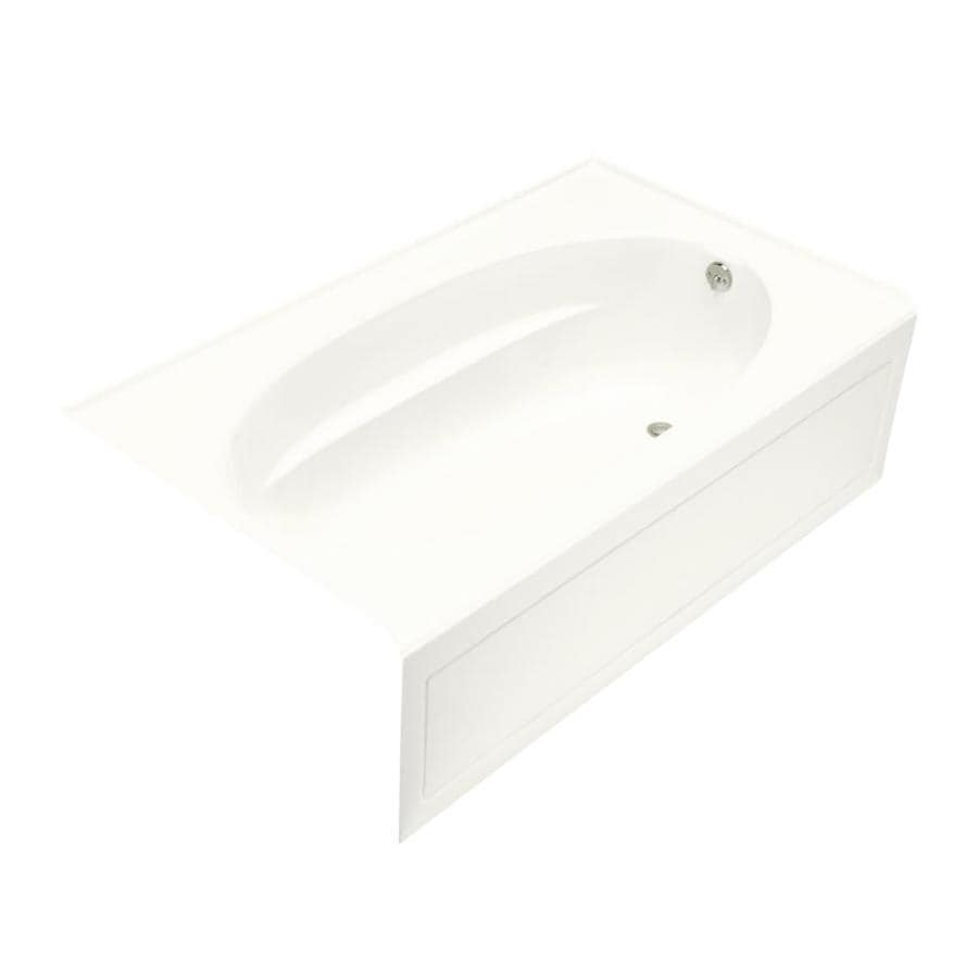 KOHLER Windward 60-in White Acrylic Alcove Air Bath with Right-Hand Drain