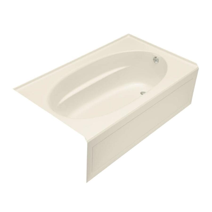 KOHLER Windward 60-in L x 42-in W x 21-in H Acrylic Oval In Rectangle Skirted Air Bath