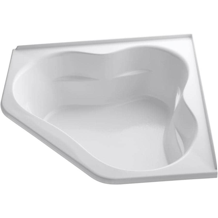 KOHLER Tercet 60-in White Acrylic Alcove Air Bath with Center Drain