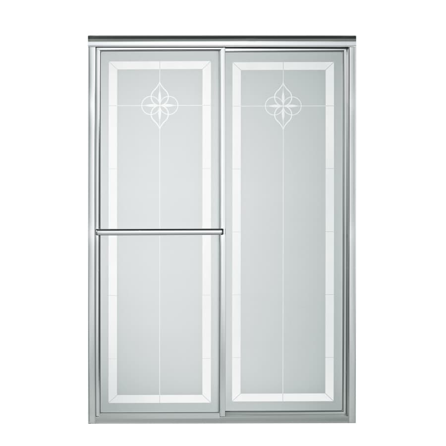 Sterling Deluxe 43.88-in to 48.875-in Framed Silver Sliding Shower Door