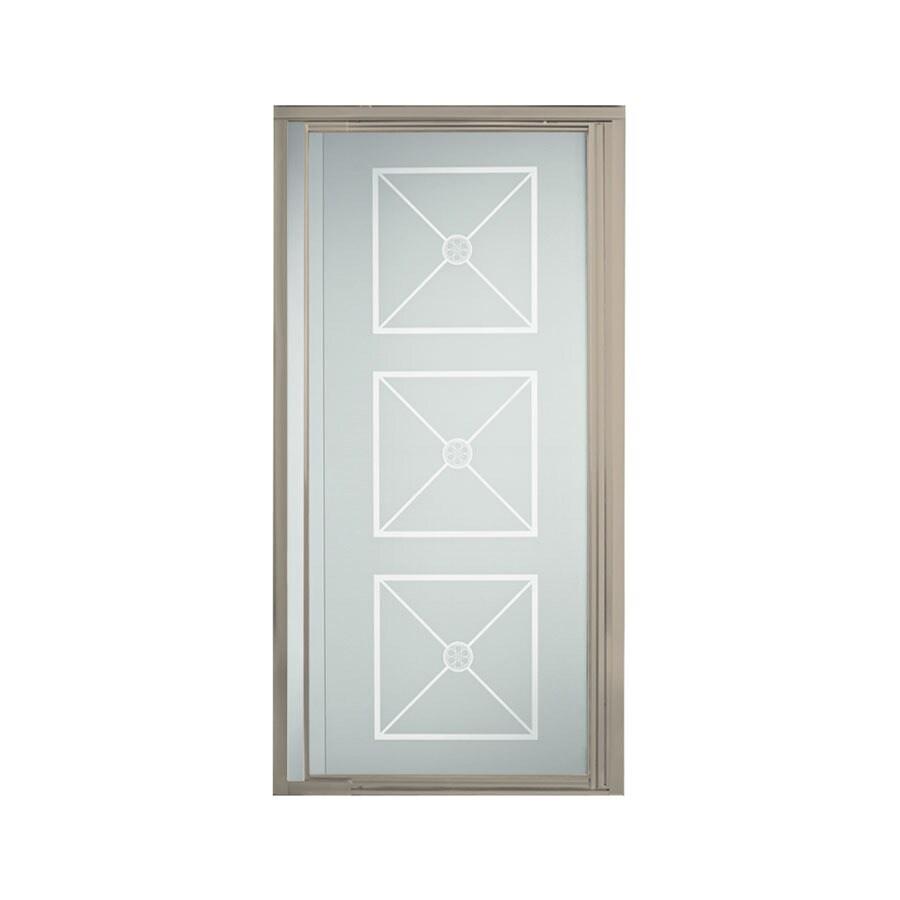 Sterling Vista Pivot II 27.5-in to 31.25-in Brushed Nickel Pivot Shower Door