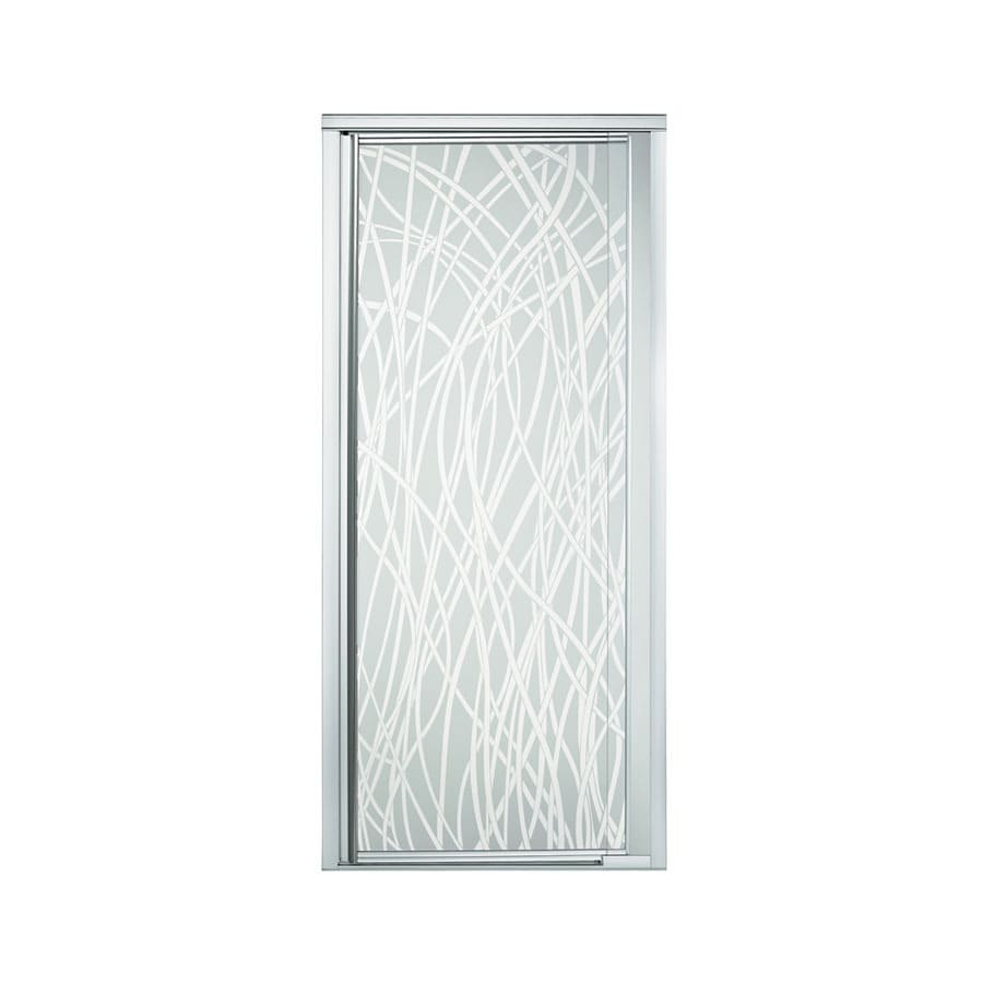 Sterling Vista Pivot II 27.5-in to 31.25-in W Framed Silver Pivot Shower Door