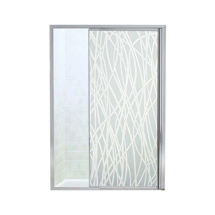 Sterling Vista Pivot II 42-in to 48-in W Framed Silver Pivot Shower Door