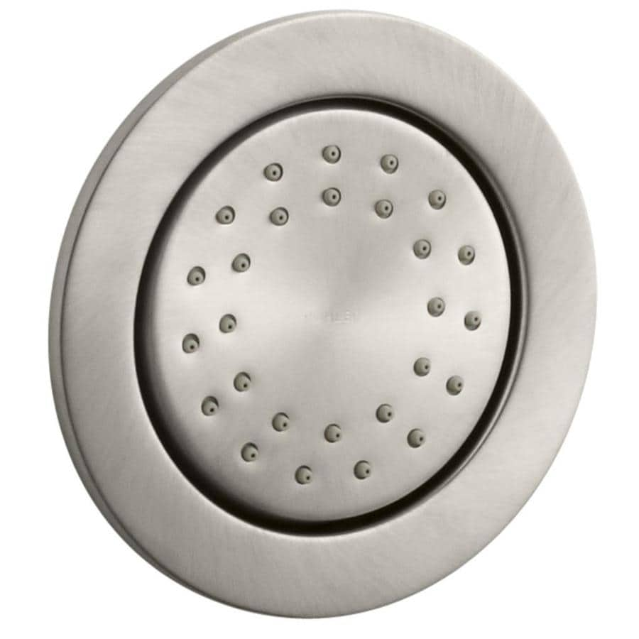 KOHLER Watertile 4.875-in 2.0-GPM (7.6-LPM) Vibrant Brushed Nickel 1-Spray Showerhead