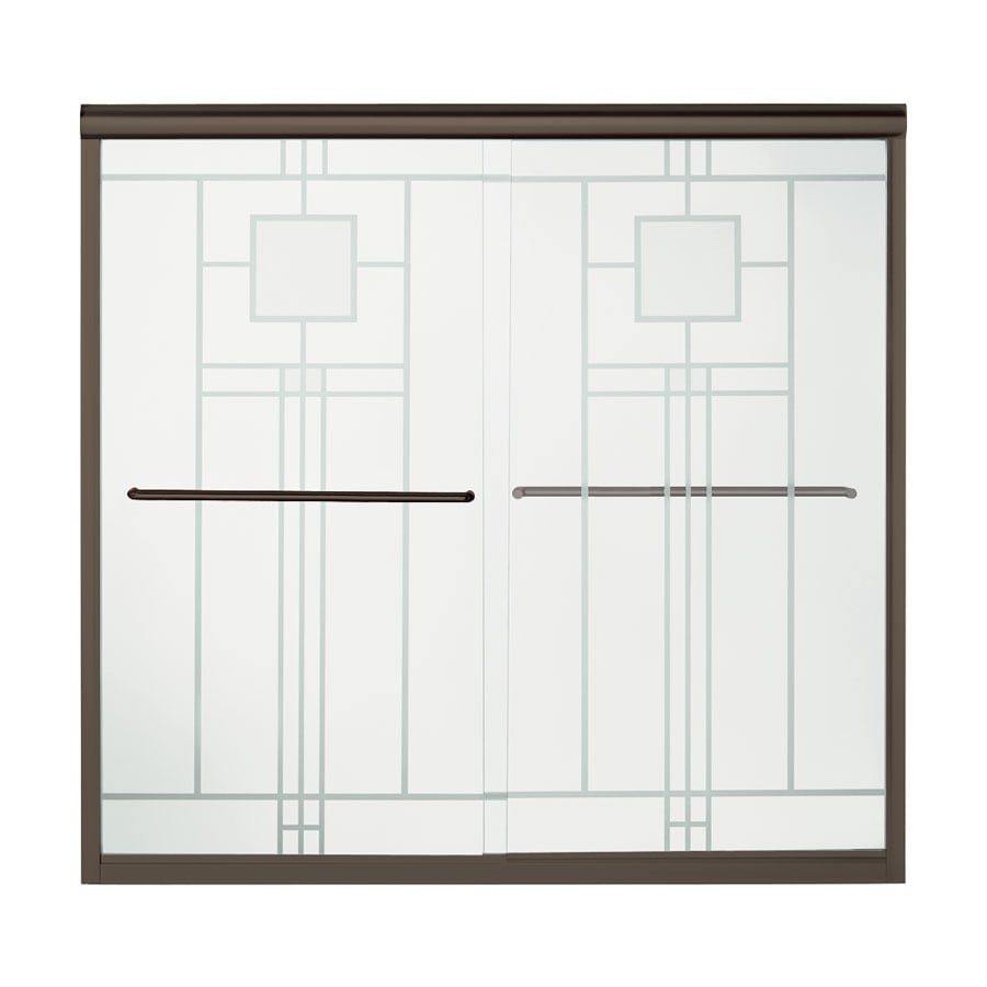 Sterling 59.63-in W x 58.312-in H Frameless Bathtub Door
