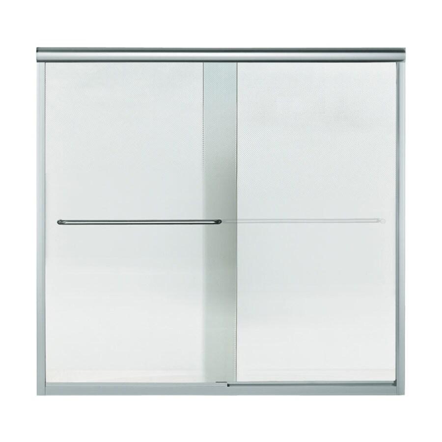 Sterling Finesse 59.625-in W x 55.5-in H Silver  Bathtub Door
