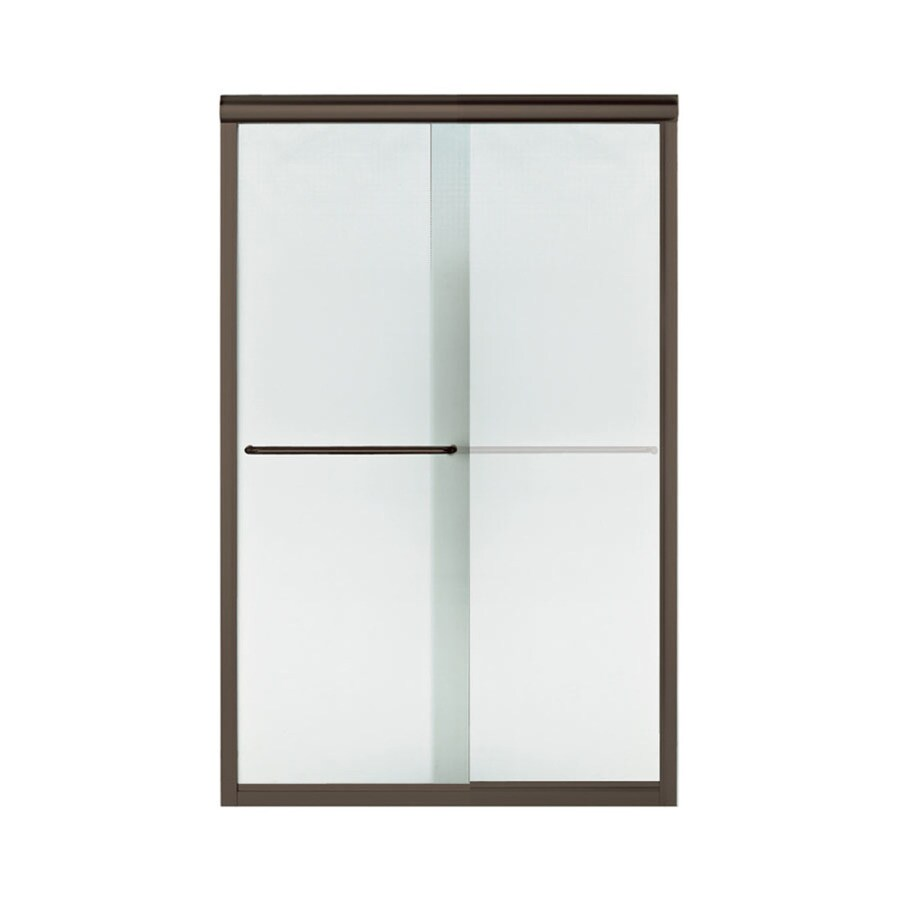 Sterling Finesse 42.625-in to 47.625-in W Frameless Deep Bronze Sliding Shower Door