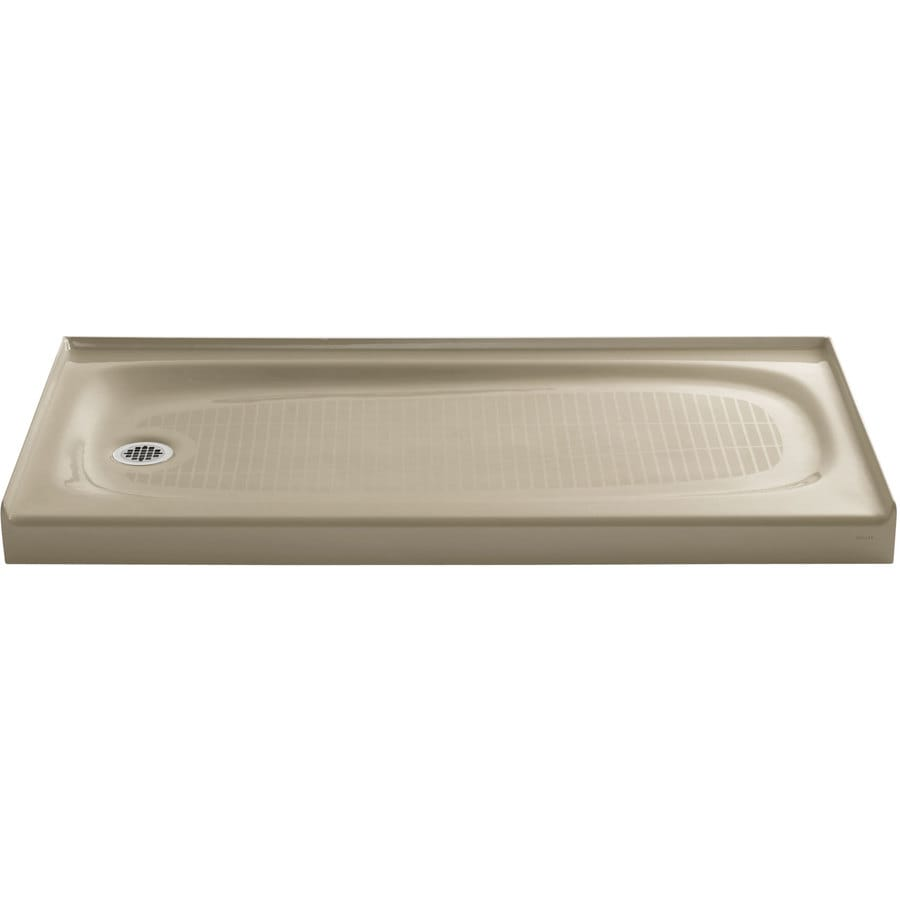 KOHLER Salient Mexican Sand Cast Iron Shower Base (Common: 30-in W x 60-in L; Actual: 30-in W x 60-in L)