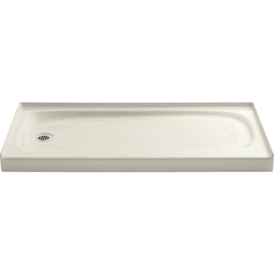 Shop Kohler Salient Biscuit Cast Iron Shower Base Common