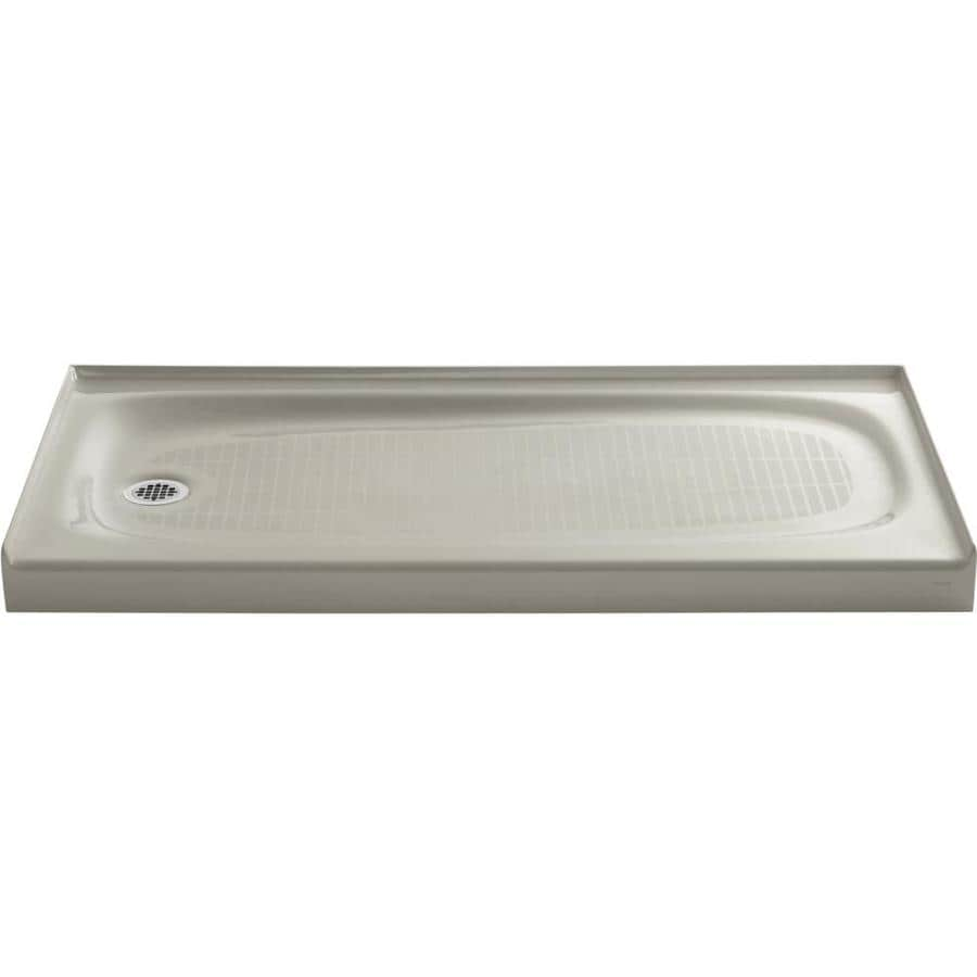 KOHLER Salient Sandbar Cast Iron Shower Base (Common: 30-in W x 60-in L; Actual: 30-in W x 60-in L)