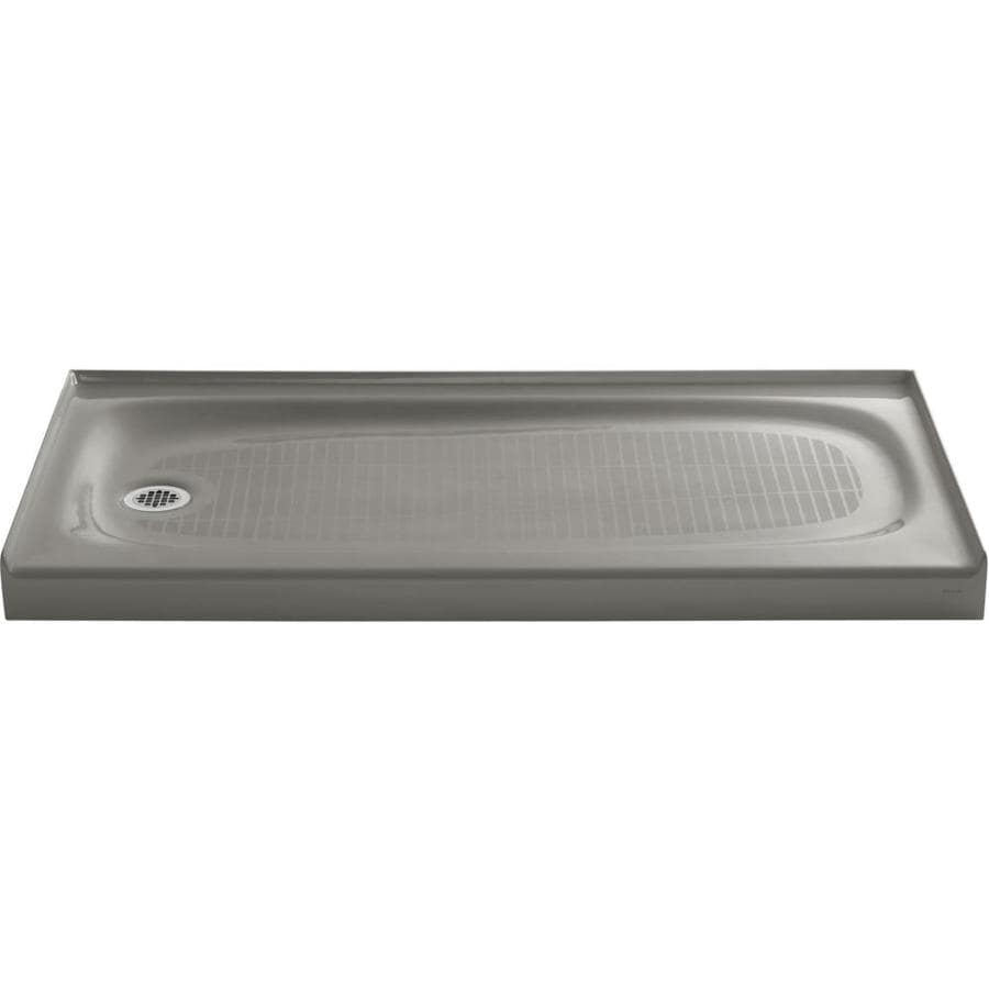 KOHLER Salient Cashmere Cast Iron Shower Base (Common: 30-in W x 60-in L; Actual: 30.0-in W x 60.0-in L)