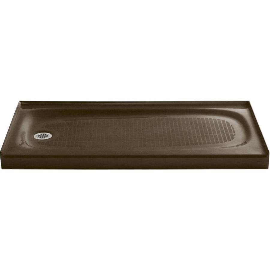 KOHLER Salient Black 'N Tan Cast Iron Shower Base (Common: 30-in W x 60-in L; Actual: 30.0000-in W x 60.0000-in L)