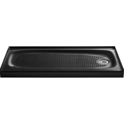 Salient Black Cast Iron Shower Base 30 In W X 60 L With Right Drain