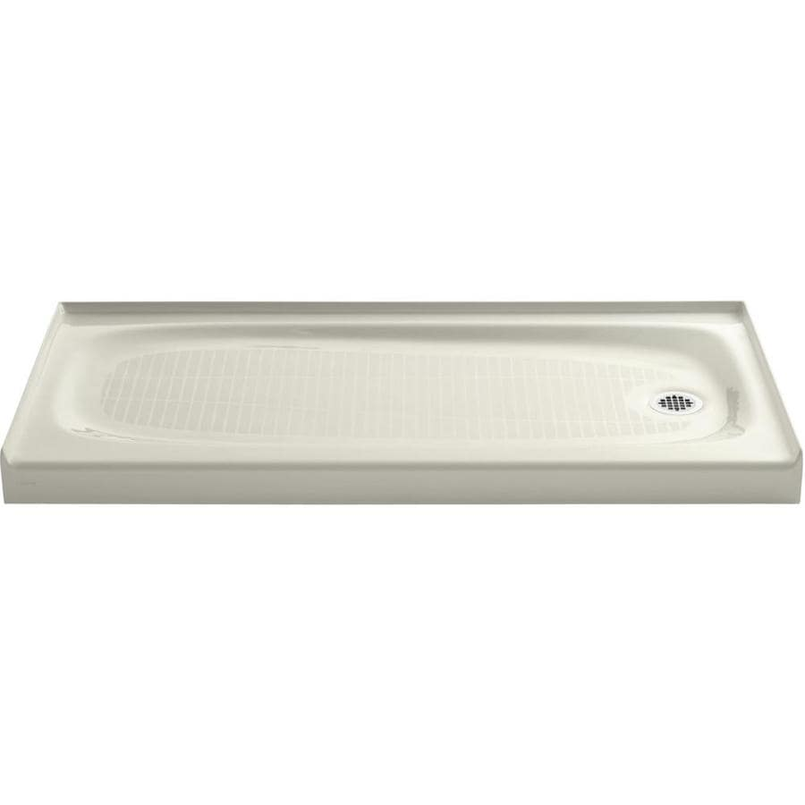 KOHLER Salient Biscuit Cast Iron Shower Base (Common: 30-in W x 60-in L; Actual: 30.0-in W x 60.0-in L)