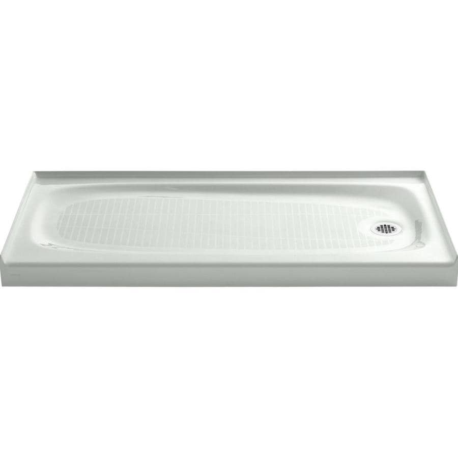 KOHLER Salient Sea Salt Cast Iron Shower Base (Common: 30-in W x 60-in L; Actual: 30-in W x 60-in L)