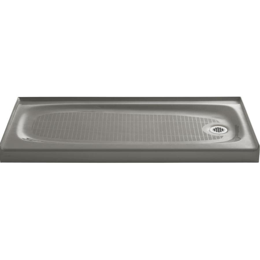 KOHLER Salient Cashmere Cast Iron Shower Base (Common: 30-in W x 60-in L; Actual: 30-in W x 60-in L)