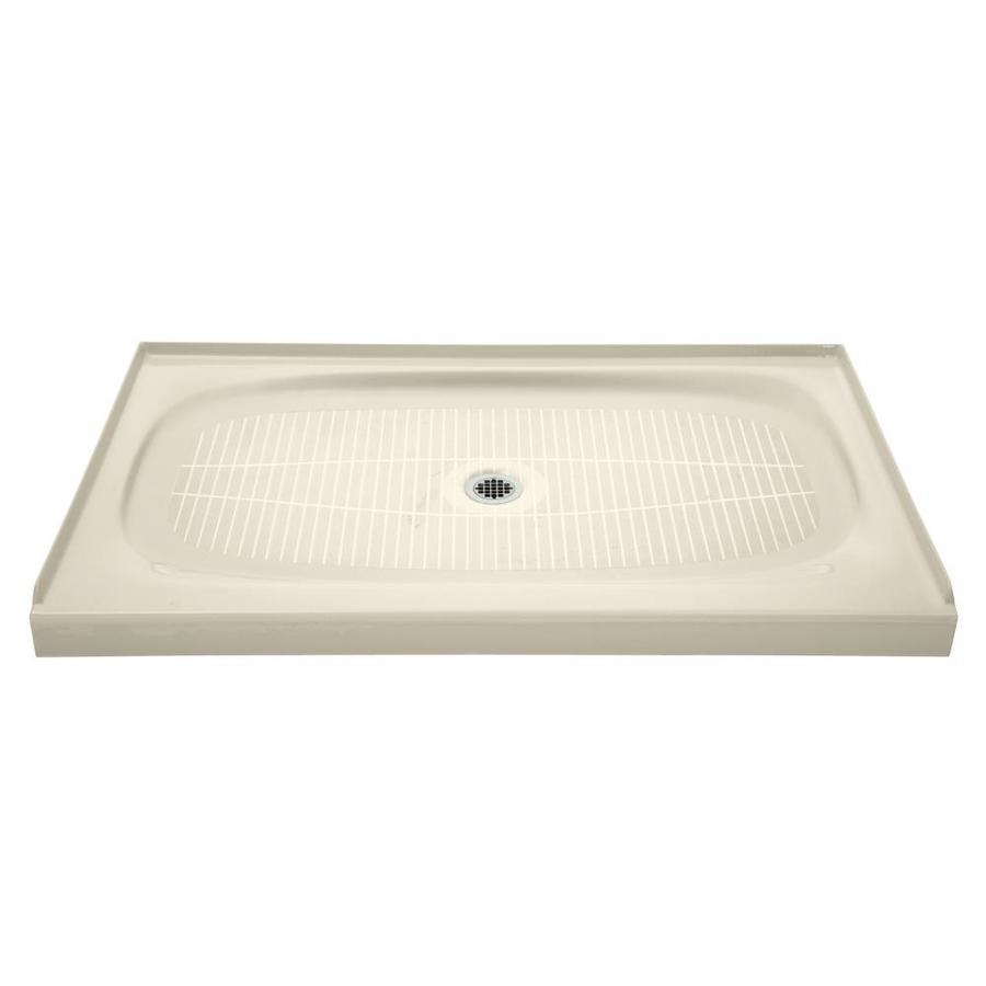 KOHLER Salient Almond Cast Iron Shower Base (Common: 36-in W x 60-in L; Actual: 36-in W x 60-in L)