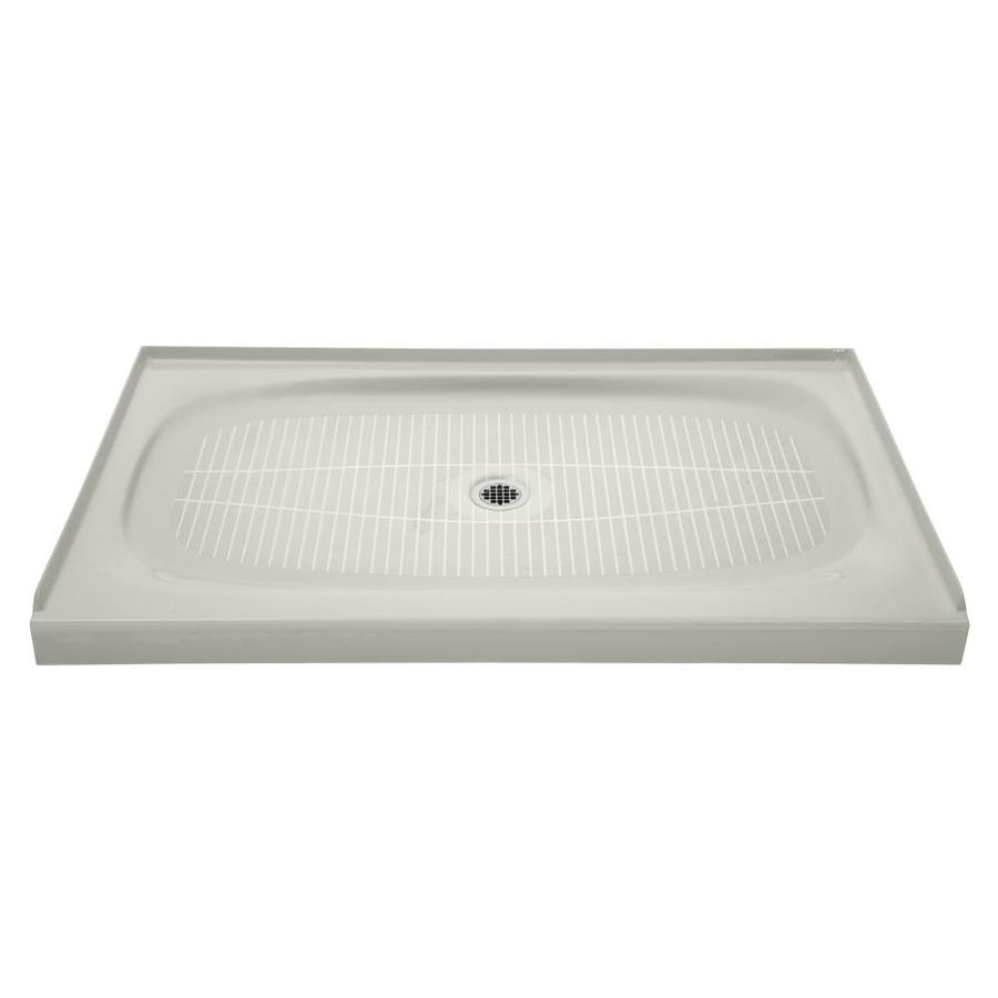 KOHLER Salient Ice Grey Cast Iron Shower Base (Common: 36-in W x 60-in L; Actual: 36-in W x 60-in L)