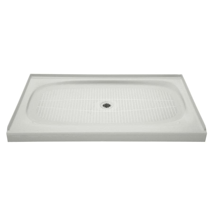 KOHLER Salient Sea Salt Cast Iron Shower Base (Common: 36-in W x 60-in L; Actual: 36.0000-in W x 60.0000-in L)