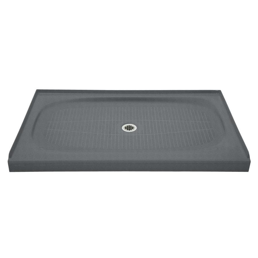 KOHLER Salient Basalt Cast Iron Shower Base (Common: 36-in W x 60-in L; Actual: 36-in W x 60-in L)