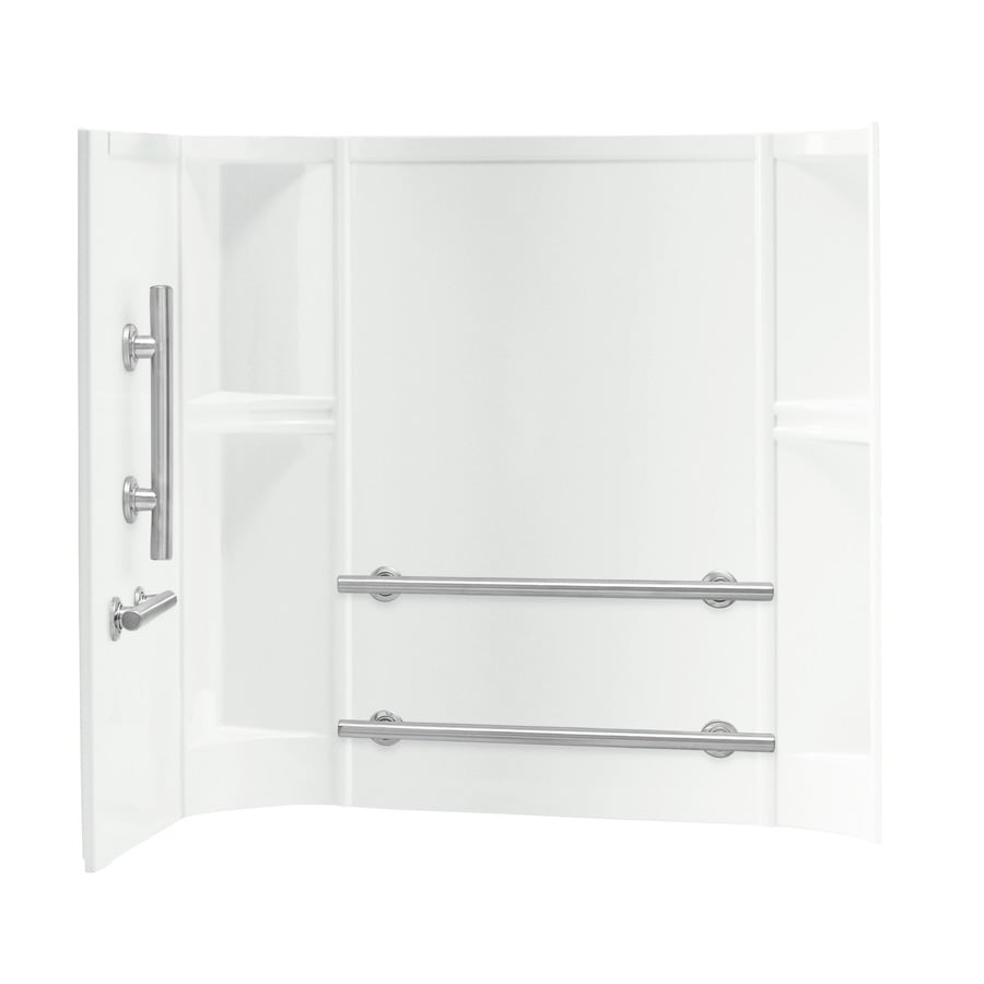 Shop Sterling Shower Wall Surround Corner Wall Panel (Common: 32-in ...