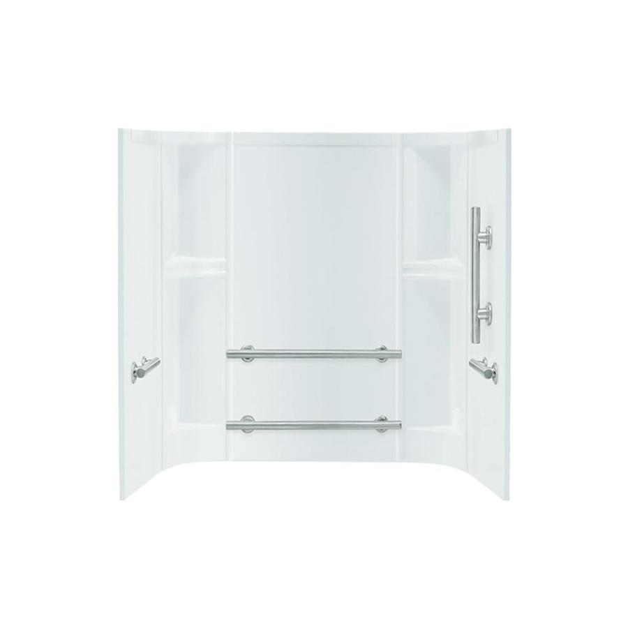 Sterling Accord White Vikrell Bathtub Wall Surround (Common: 60-in x 30-in; Actual: 55-in x 60-in x 31.25-in)