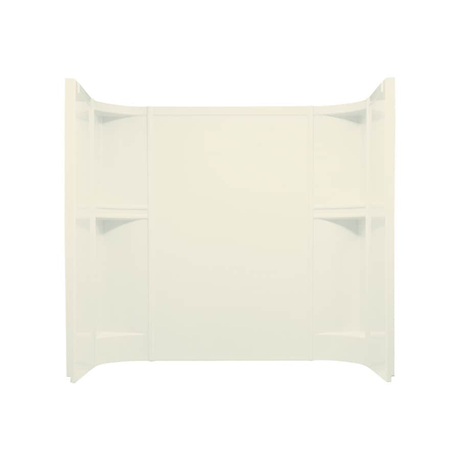 Sterling Accord Biscuit Vikrell Bathtub Wall Surround (Common: 60-in x 30-in; Actual: 55-in x 60-in x 31.25-in)