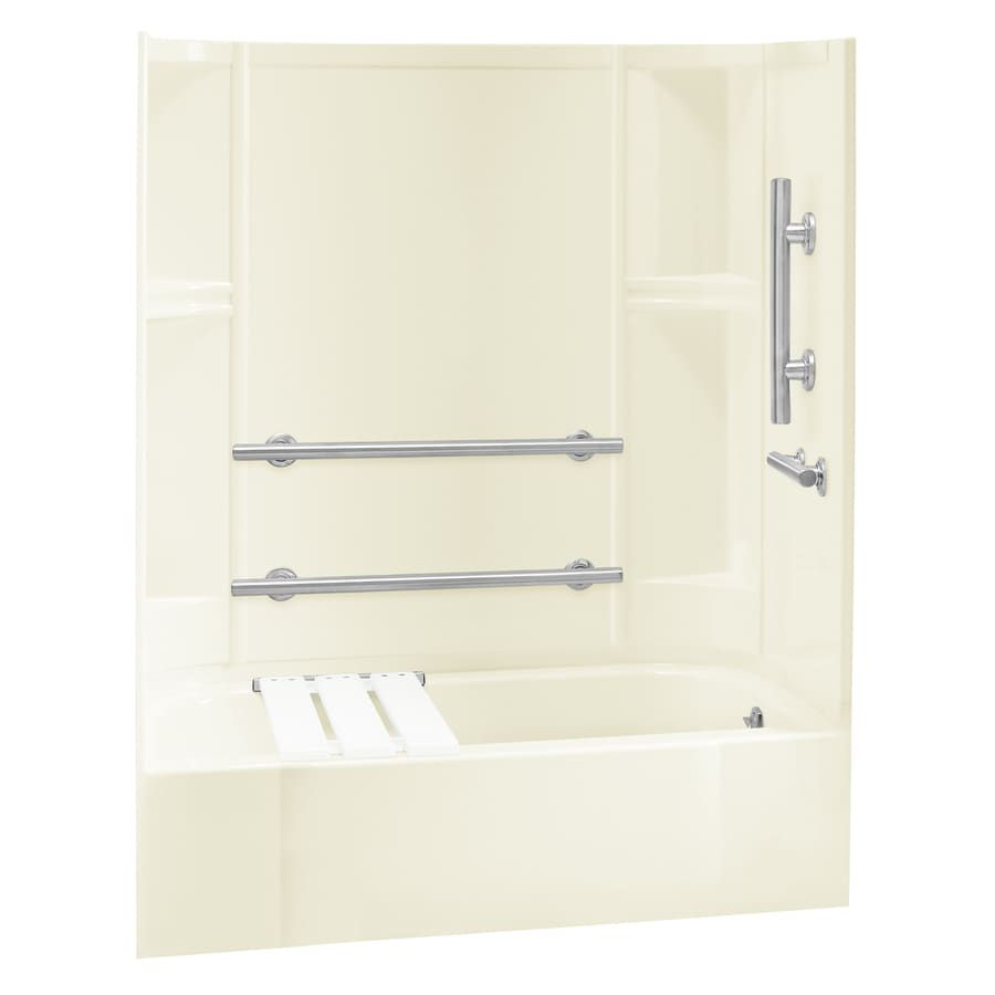 Sterling Accord Biscuit 4-Piece Alcove Shower Kit (Common: 30-in x 60-in; Actual: 72-in x 30-in x 60-in)