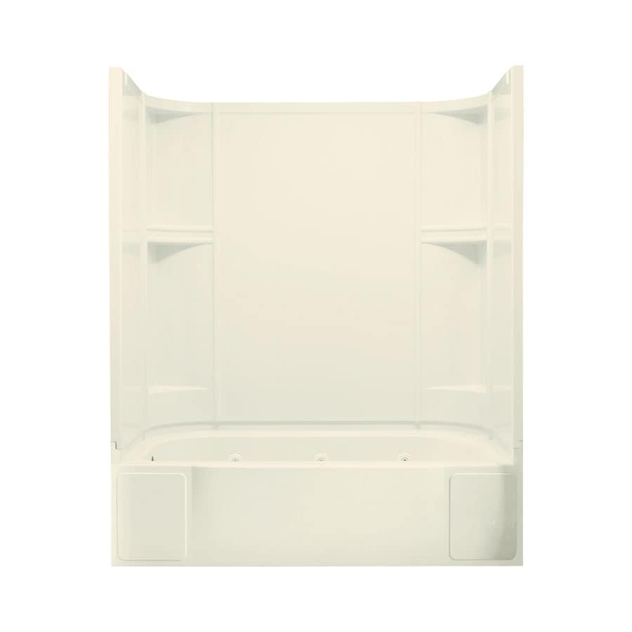 Sterling Accord 60.25-in Biscuit Vikrell Alcove Whirlpool with Left-Hand Drain