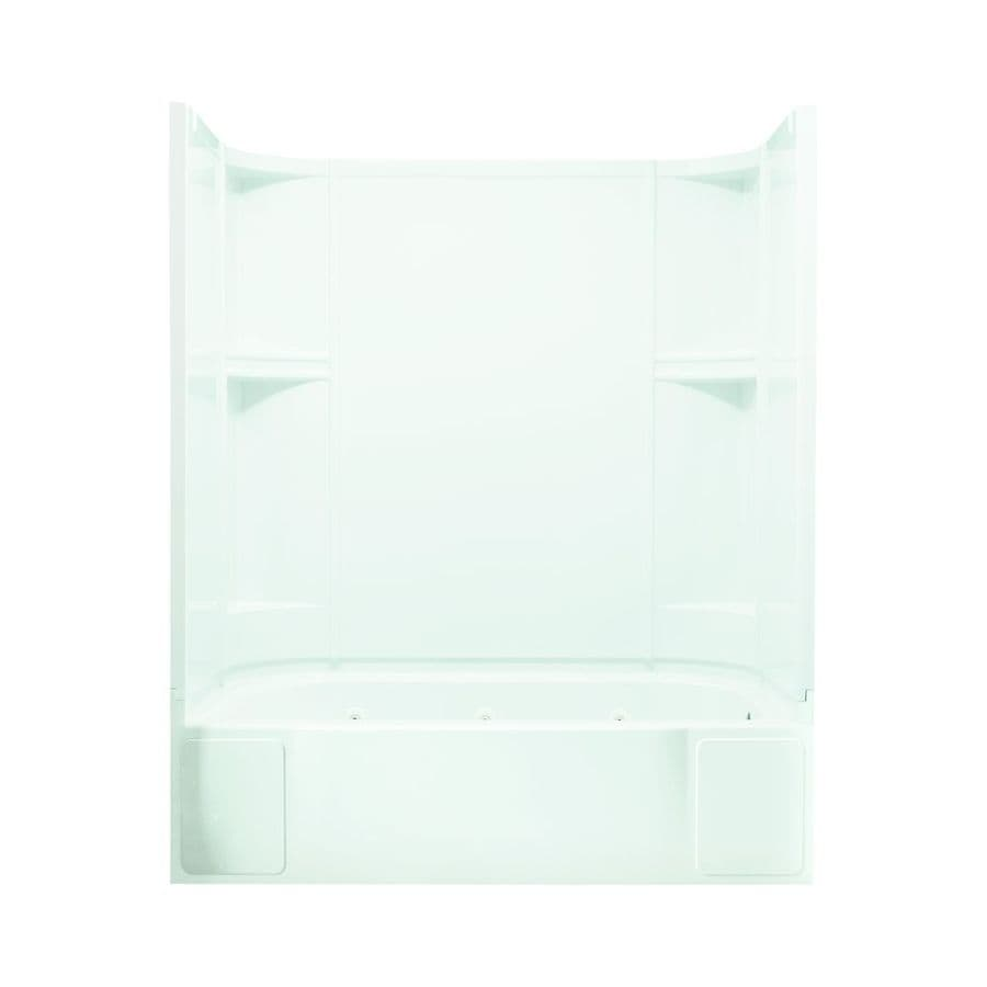 Sterling Accord 60.25-in White Vikrell Alcove Whirlpool with Right-Hand Drain