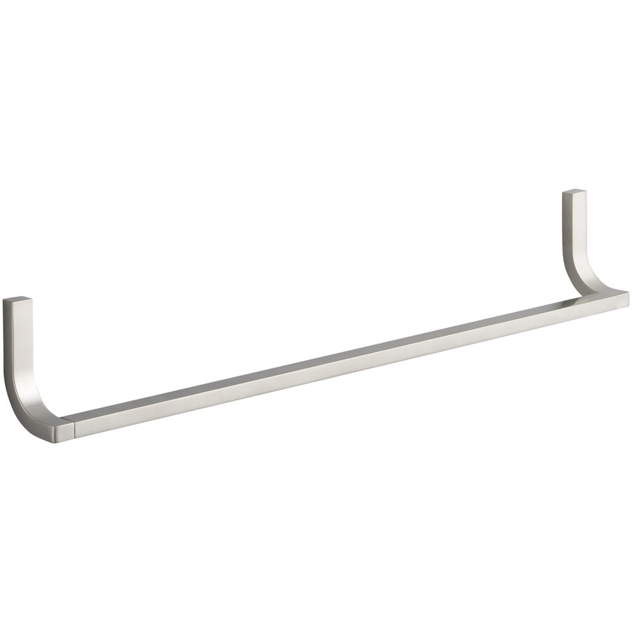 KOHLER Loure Vibrant Brushed Nickel Single Towel Bar (Common: 24-in; Actual: 24.75-in)