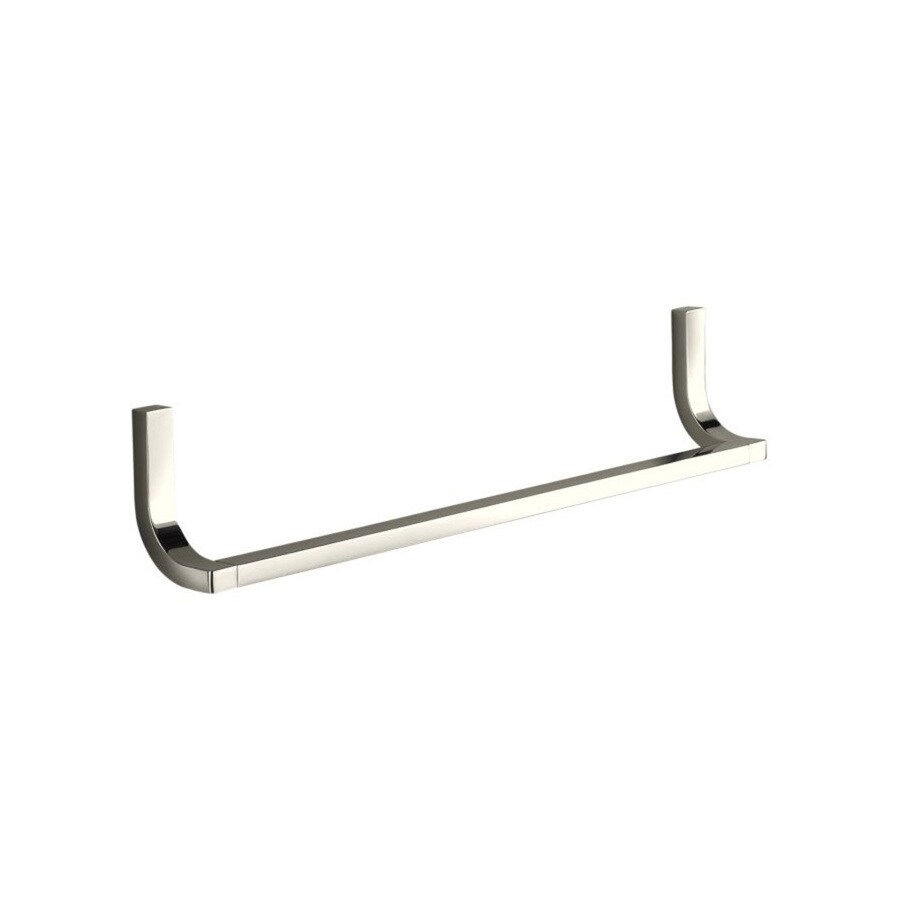KOHLER Loure Vibrant Polished Nickel Single Towel Bar (Common: 18-in; Actual: 18.75-in)