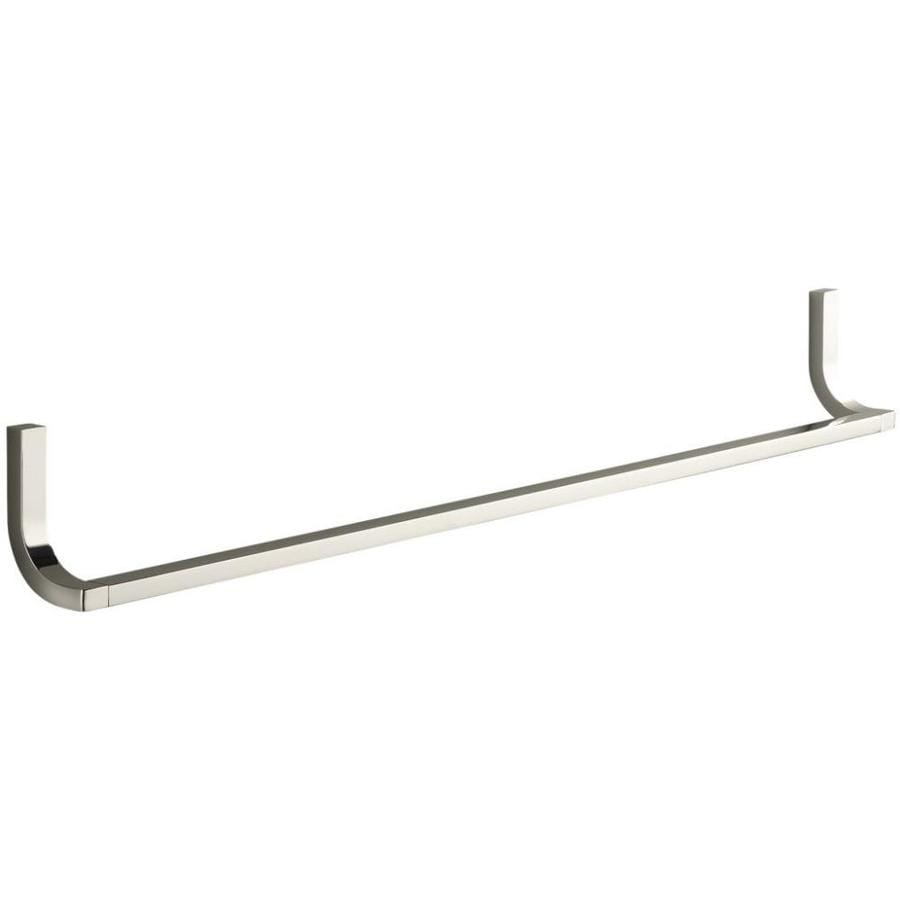 KOHLER Loure Vibrant Polished Nickel Single Towel Bar (Common: 30-in; Actual: 30.75-in)