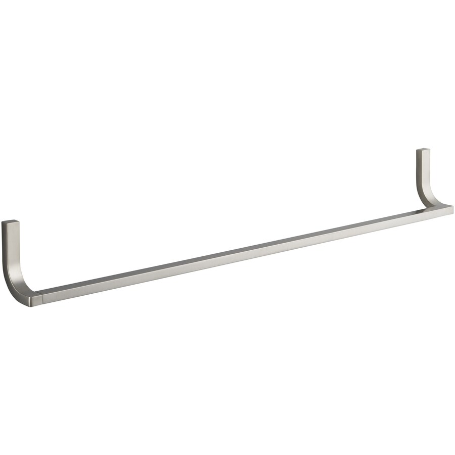 KOHLER Loure Vibrant Brushed Nickel Single Towel Bar (Common: 30-in; Actual: 18.75-in)
