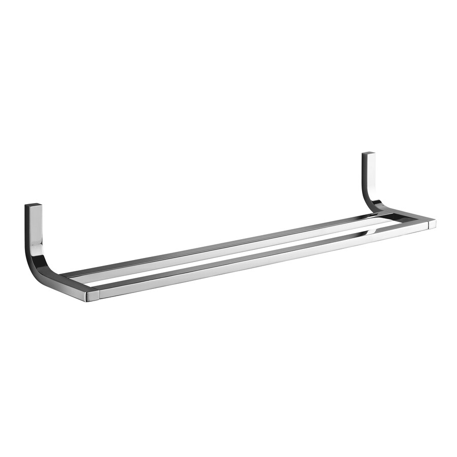 KOHLER Loure Polished Chrome Double Towel Bar (Common: 24-in; Actual: 24.75-in)