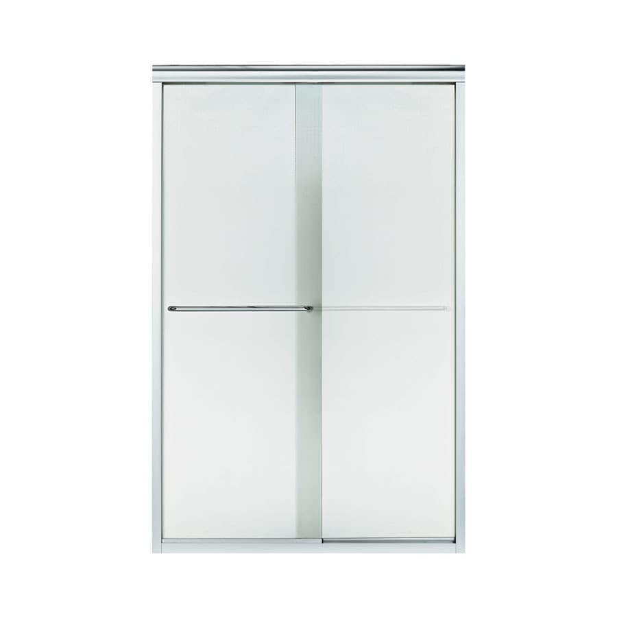 Sterling Finesse 45.75-in to 47.25-in W Frameless Silver Sliding Shower Door