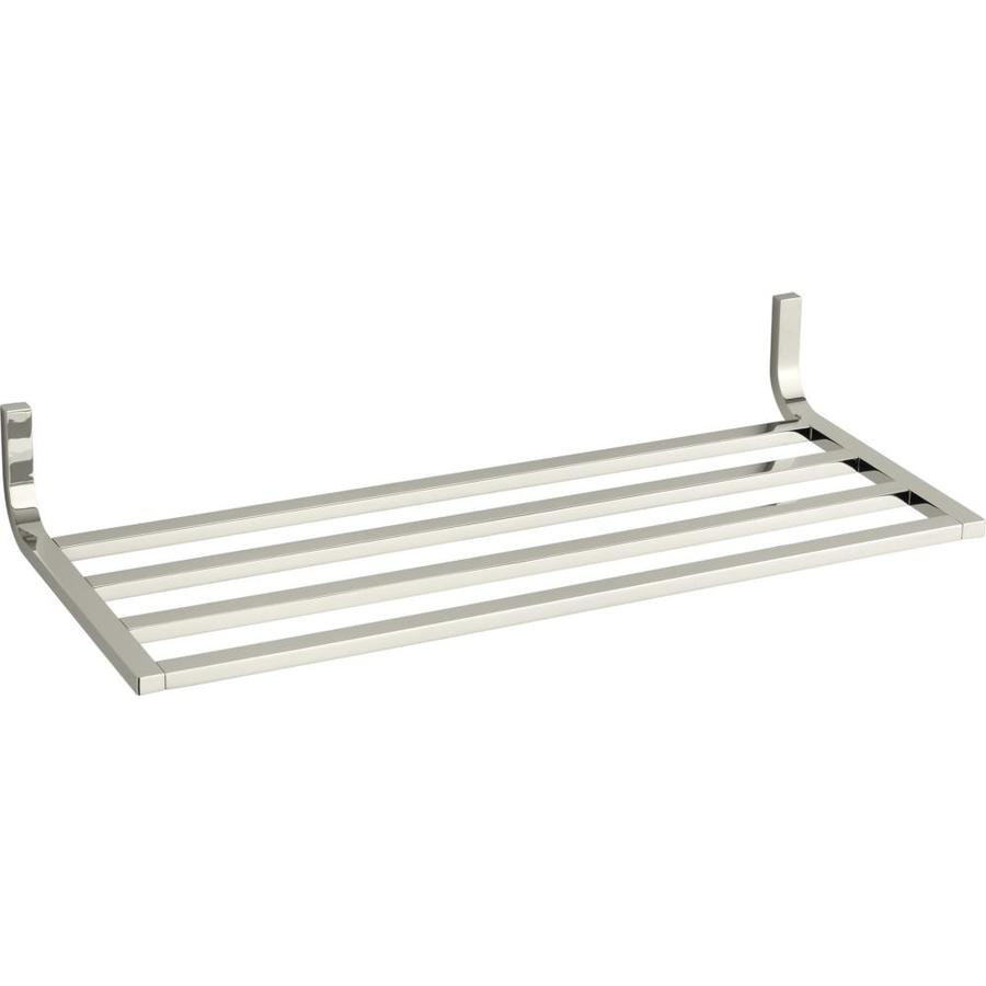 KOHLER Loure Vibrant Polished Nickel Metal Bathroom Shelf