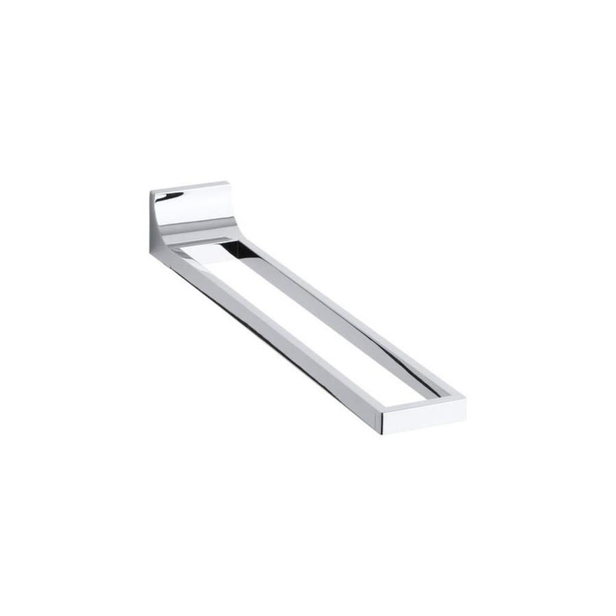 KOHLER Loure Polished Chrome Double Towel Bar (Common: 17-in; Actual: 17.875-in)