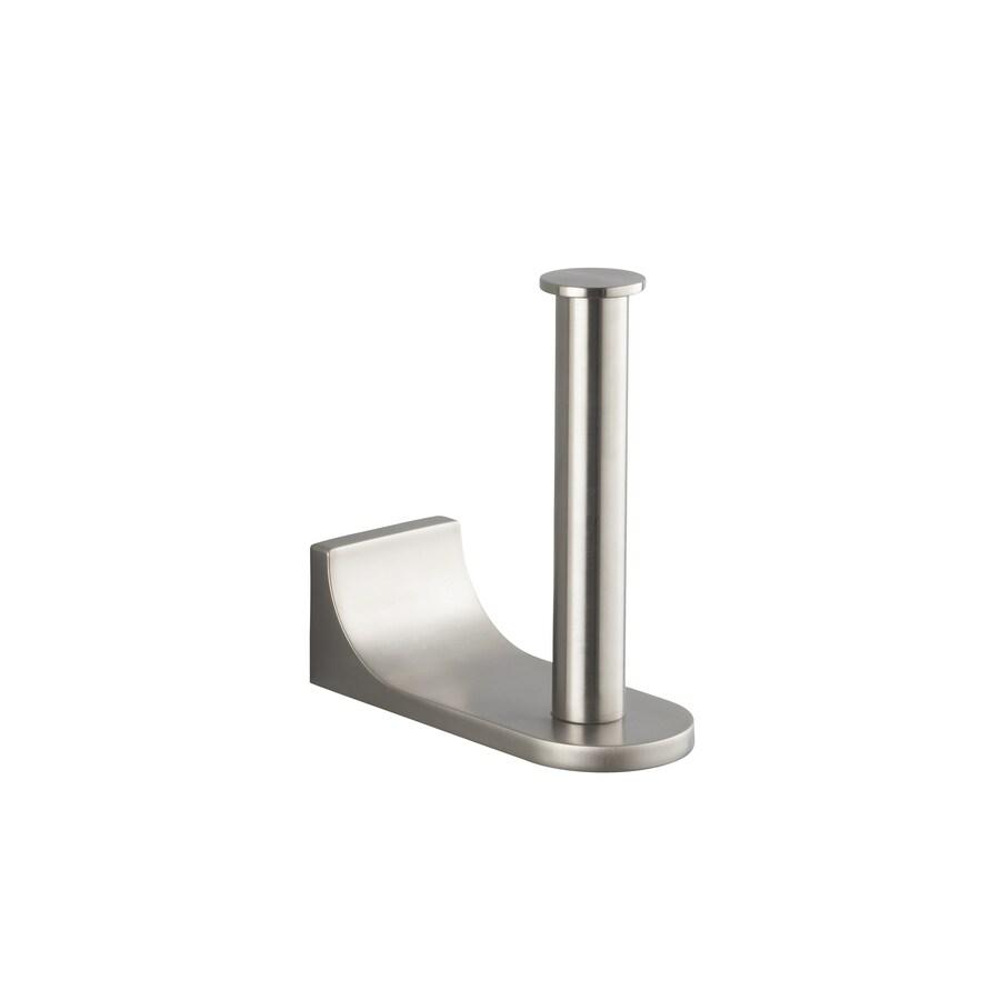 KOHLER Loure Vibrant Brushed Nickel Surface Mount Toilet Paper Holder